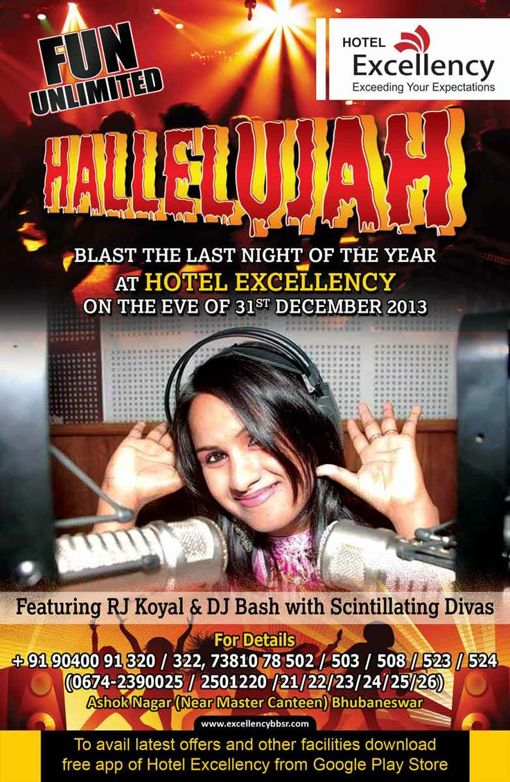http://excellencybbsr.com/ ENJOY THE 31st EVENINING IN EXCELLENCY WITH HALLELUJAH.... #bhubaneswar #hotel #newyear #2014