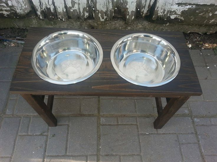 raised dog feeder / elevated food bowls  / dog feeding station ( extra Large) tall elevated food bowls / 24 inch raised wood dog feeder by JulieEvesWoodworking on Etsy https://www.etsy.com/listing/196901207/raised-dog-feeder-elevated-food-bowls