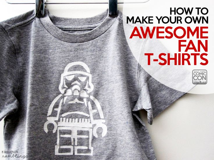 How To Make Your Own Awesome Fan T Shirts Freezer Paper