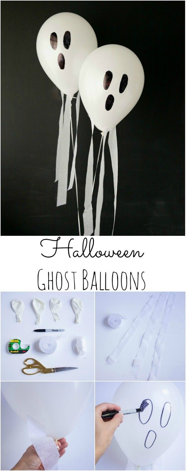 Halloween Ghost Balloons | these balloons look like they are really flying ghosts with a little breeze!