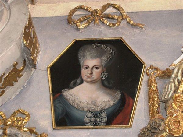 Wschowa - Kościół oo. franciszkanów-.Portret trumienny żony hr.Rafała Gurowskiego,Ludowiki