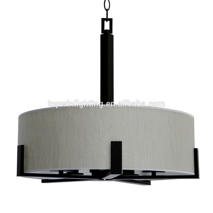 5 licht chandelierin ebbenhout brone afwerking met toffee crunch stof schaduw voor Europese markt decoratieve schorsing-afbeelding-kroonluchters en hanglampen-product-ID:60455302355-dutch.alibaba.com