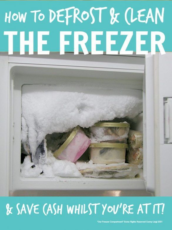 How To Defrost And Clean The Freezer How To Clean Freezer