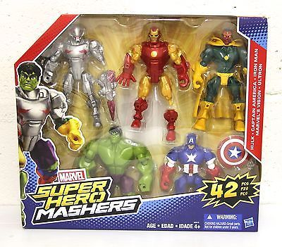 MARVEL MASHERS 42 pcs BOX BIG PACK : HULK Iron man Ultron Vision Captain America