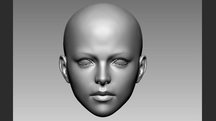 female face zbrush practice