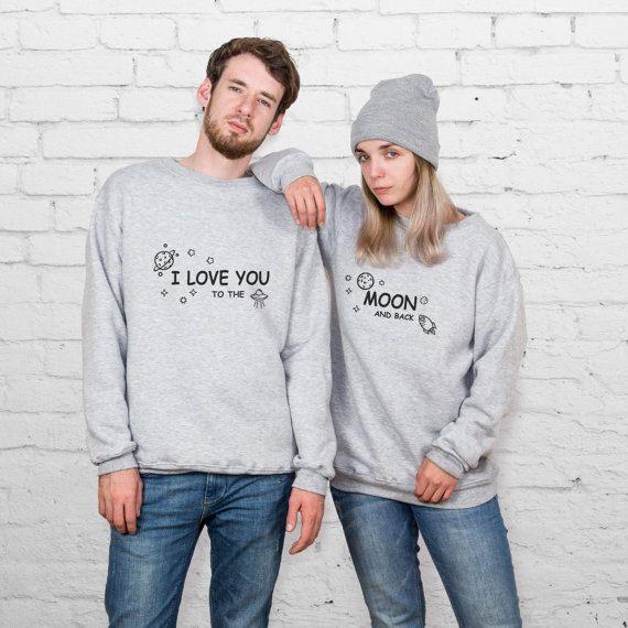 Amante de café sudadera par camisas parejas sudadera Señor y señora suéter Valentín Pärchen Jersey de San Valentín regalo YPc028