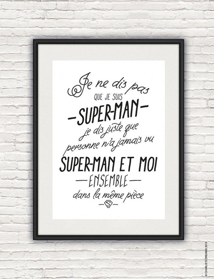 affiche super héros charlie's dream- super hero poster