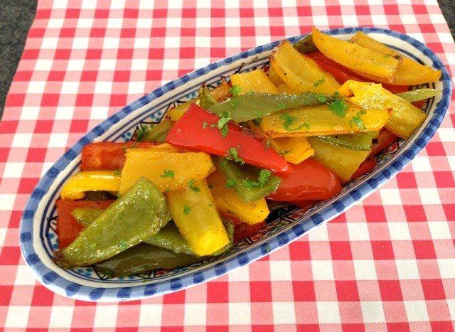 Gegrilde paprika   Het lekkerste recept vind je op AllesOverItaliaansEten