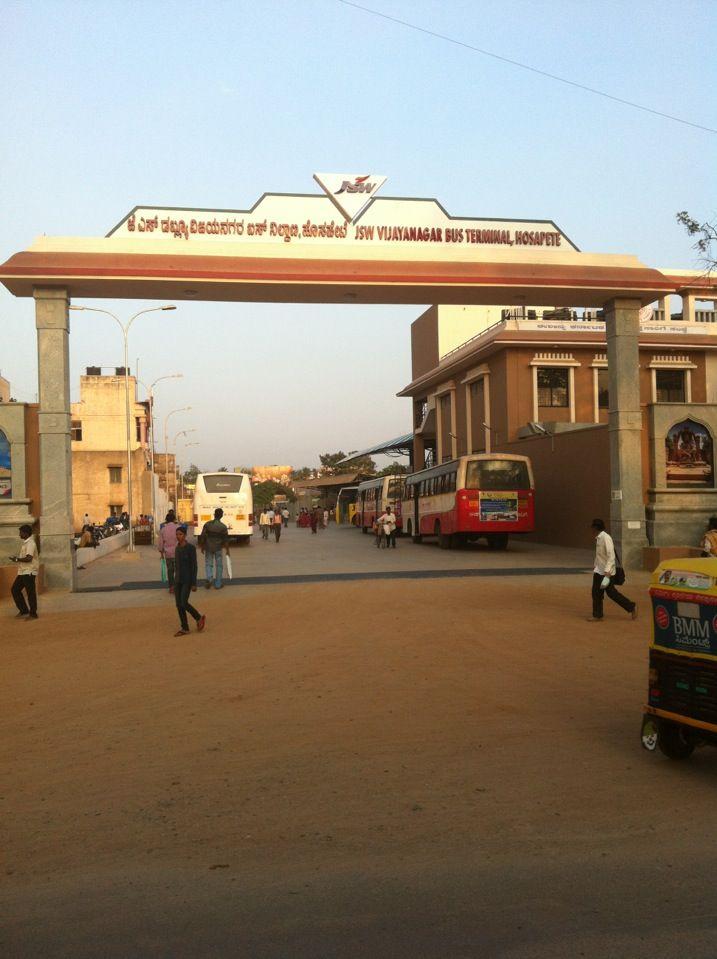 Hospet bus stand in Hospet, Karnātaka