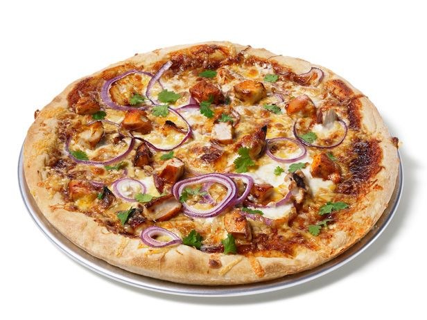 Almost-Famous Barbecue Chicken Pizza from FoodNetwork.com....but substitute store bought pesto for BBQ sauce!
