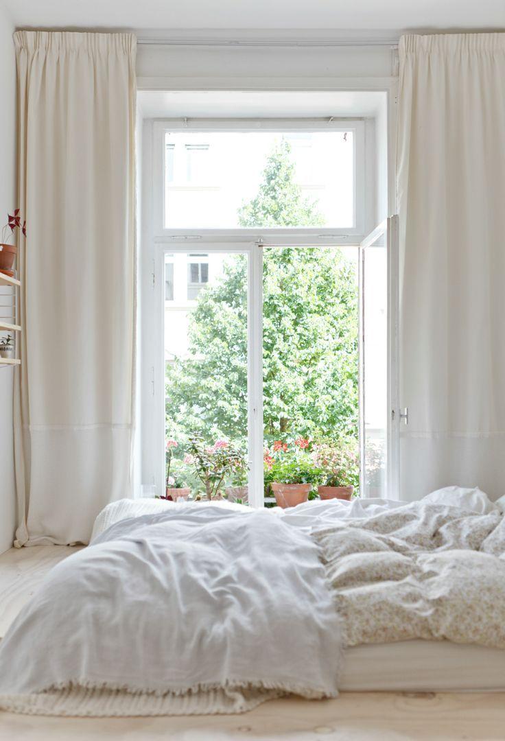 Licht + slaapkamer + gordijnen
