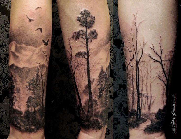 landscape forearm tattoo - Google Search