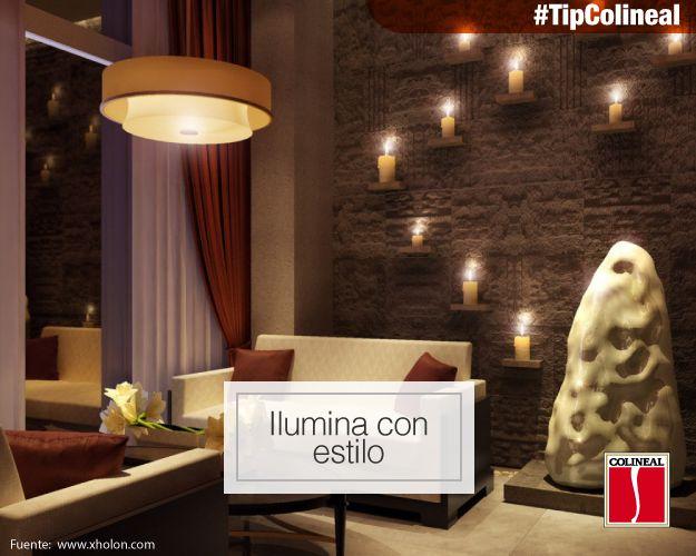 #TipColineal  Enciende una vela, hay algo en el modo en que brilla una #vela que contribuye a crear un #ambiente acogedor, cálido y relajante en nuestra sala.  Las hay de todo tipo, tamaño, color y olor y son una forma muy práctica de decorar tu #sala. ¡Anímate!