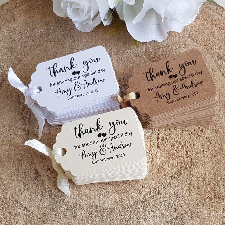Inviti matrimonio fai da te da stampare: Personalised Wedding Favour Tags Thank You For Sharing Our Etsy Bigliettini Bomboniere Nozze Regali Invitati Nozze Bomboniere Matrimonio Fai Da Te Idee