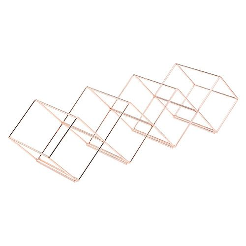Bar Craft Copper Finish Wire Stackable Wine Rack