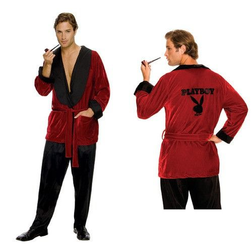 #889295 You can pretend to have the life as Hugh Hefner this Halloween as you wear this smoking jacket to the next party. Don't forget to bring your bunnies with you. Includes: Smoking jacket with bel