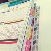 Mom on the Go planner $35 - Beautiful colors throughout the planner (Christmas gift Idea)