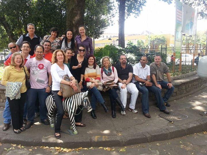 08/10/2014 Fiscais do CCFI2 na hora do almoço no parque municipal: