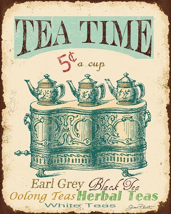 I uploaded new artwork to fineartamerica.com! - 'Vintage Tea Time Sign' - http://fineartamerica.com/featured/vintage-tea-time-sign-jean-plout.html via @fineartamerica