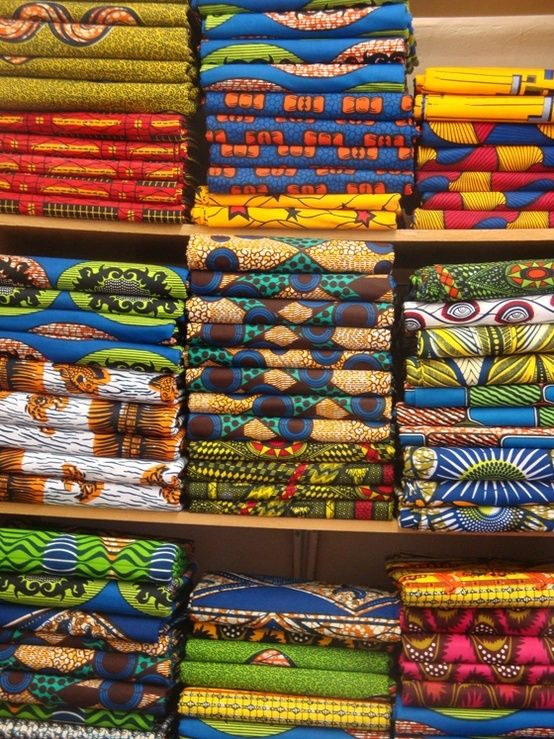 Beautiful African fabric!  So colorful!