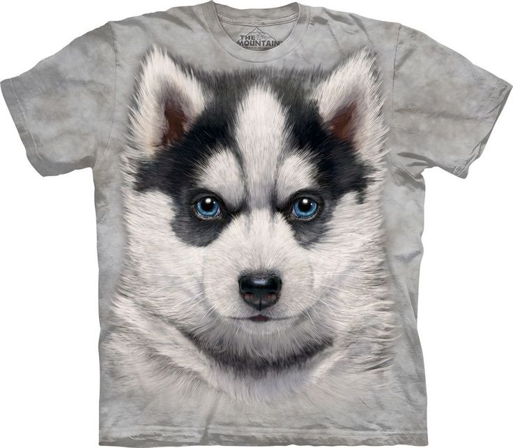$29.99 - $24.99 Siberian Husky Puppy Shirt The Siberian Husky T-shirt features an over-sized relaxed fit, with reinforced double-stitching on all seams. A mid-weight, 100% cotton tee, hand-dyed and sc