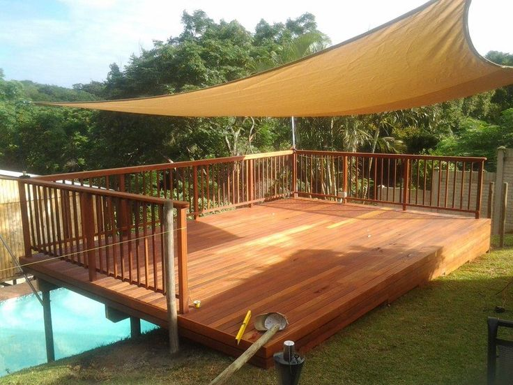 Wooden Sundeck built in Toti, Durban area – March 2013