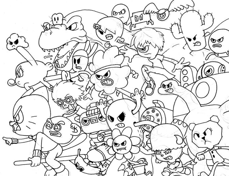all characters from amazing world of gumball coloring pages food pinterest gumball - Amazing Coloring Pages