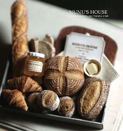 Miniature breads.