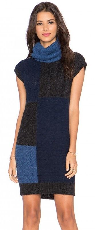 ZOOMBERG - patchwork sweater dress