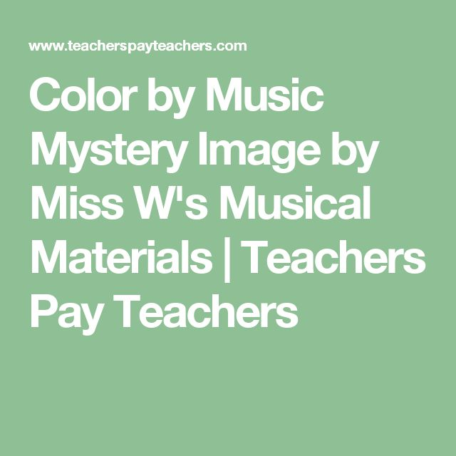 Color by Music Mystery Image by Miss W's Musical Materials | Teachers Pay Teachers