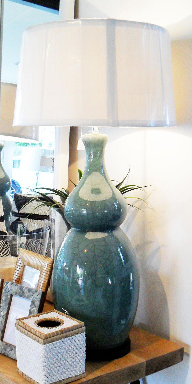 Celedon Ceramic Lampbase - Inside Out Home Boutique