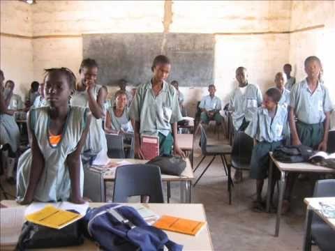 bringing aid to schools and villages, Gambia, April 2008 #ToniJackman #Gambia