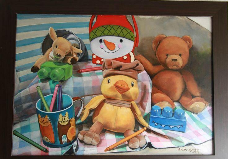 Meu ultimo trabalho- Os Brinquedos  Óleo sobre tela