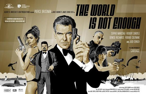 James Bond 007 Fan Art Pierce Brosnan In The World Is Not