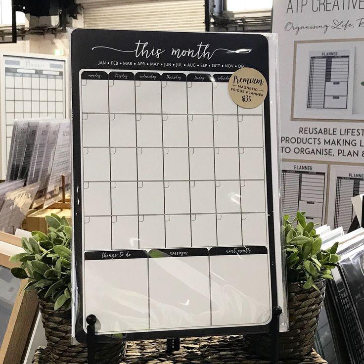 Reusable fridge Magnet Calendar, To Do List, Messages and Next Week Planner by ATP Creative Design