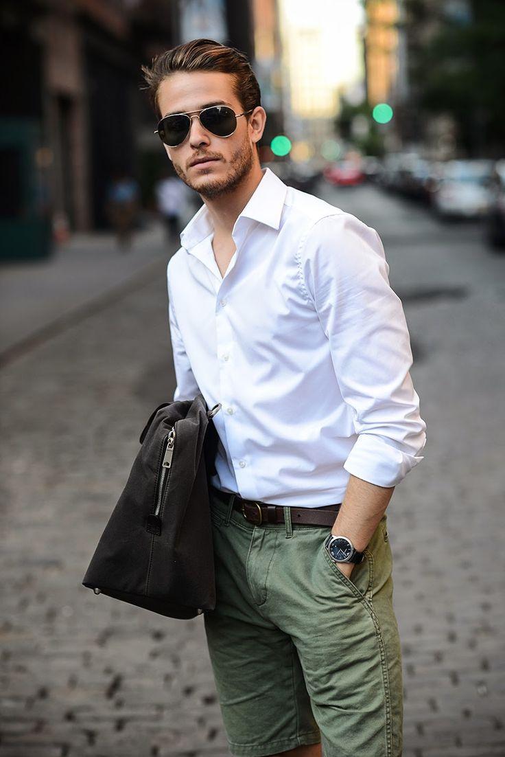 Galla: #menswear #shorts #green #milatry #summer