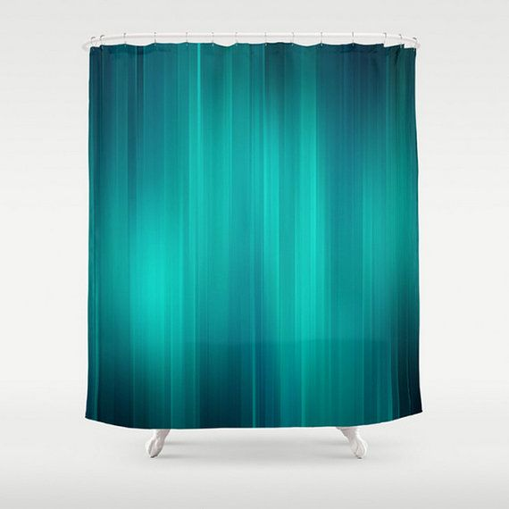 Teal Shower Curtain Turquoise Aqua Shades of by LoveThatTooMuch