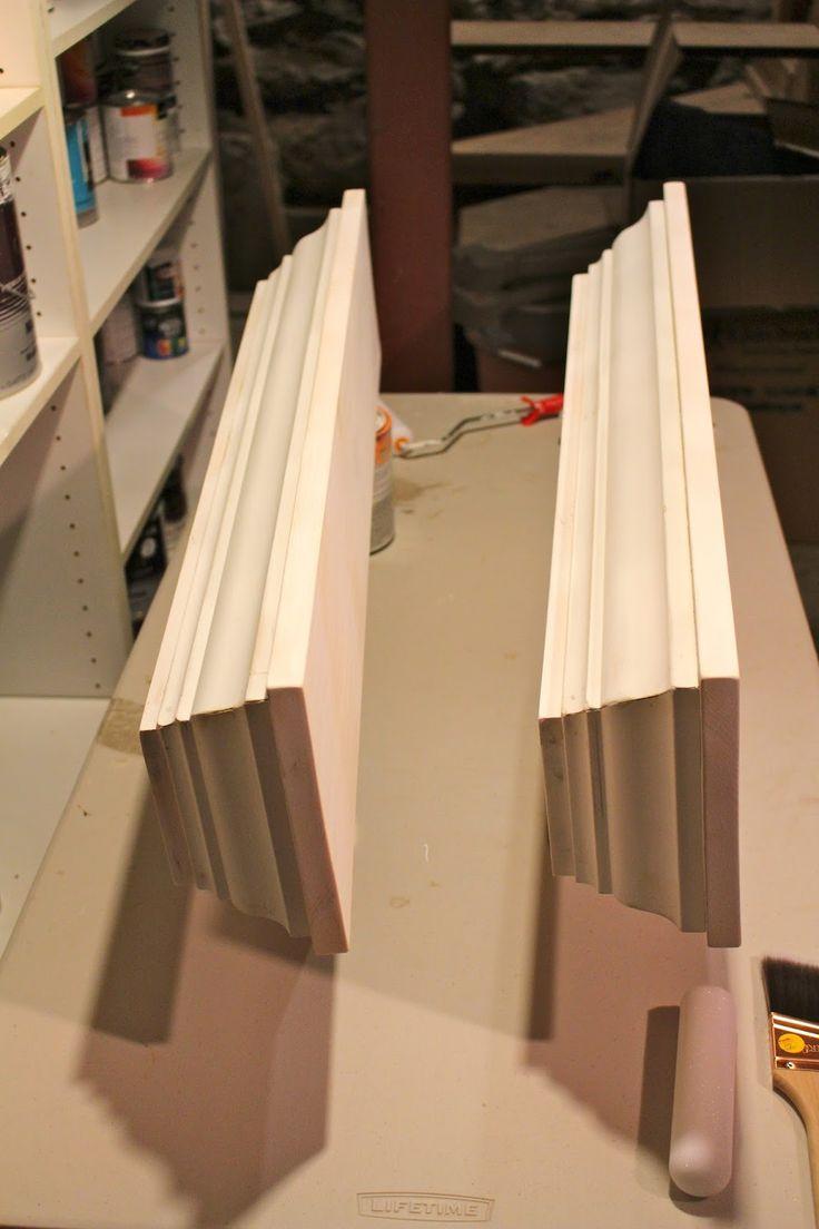 Build: crown molding ledges         Build your own crown molding ledges from solid wood and mdf crown to fit your space.