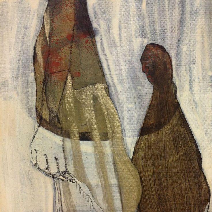 Cathrine Boman - Alt kaster skygge II - Acryl på lerret, 30 x 30 cm