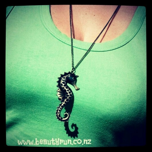 Seahorse Necklace available in 3 colours!