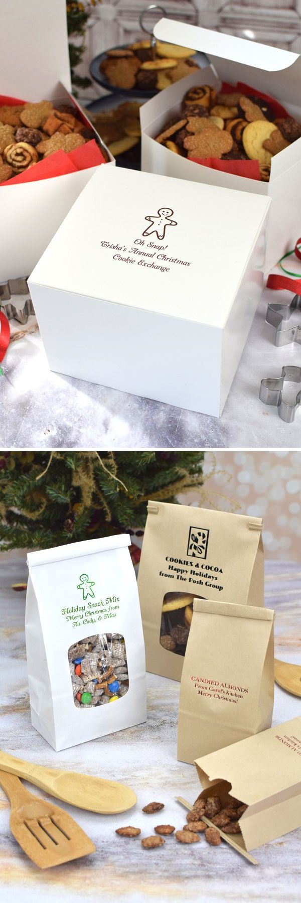 Gift wrapping ideas for home made baked goods - Personalized Christmas Party Decorations Gifts And Ideas