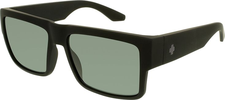 Spy Optic Unisex Cyrus Happy Lens Collection Polarized Eyewear, Soft Matte Black/Gray Green / One Size Fits All