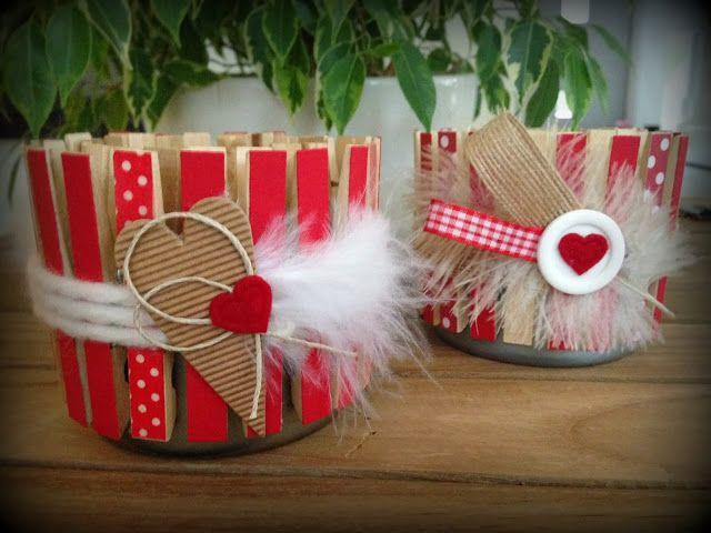 Groseilles & CO: Photophores avec pinces à linge et boites de thon