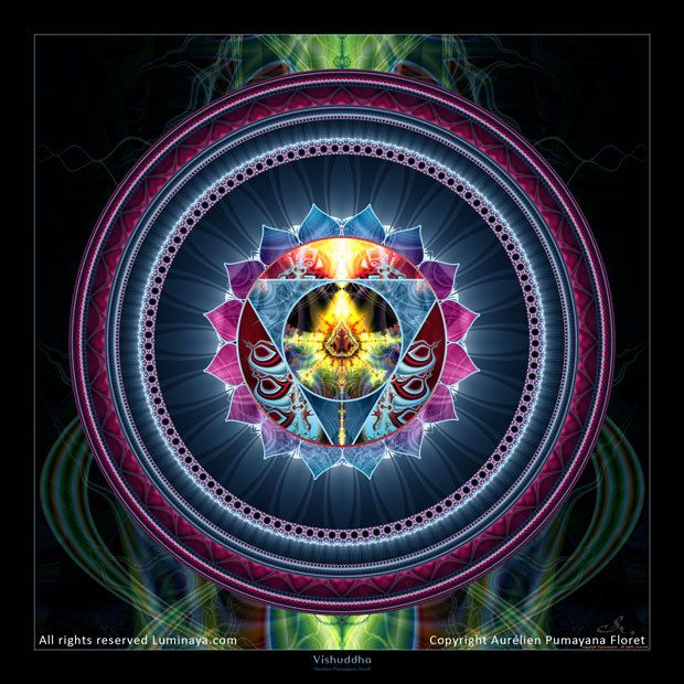 Art visionnaire de Mandala calendrier Chakra Chakra de par Pumayana