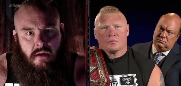 WWE Universal Champion Brock Lesnar and his rival Braun Strowman got into a war of words Monday on Raw ahead of their match Sunday at No…