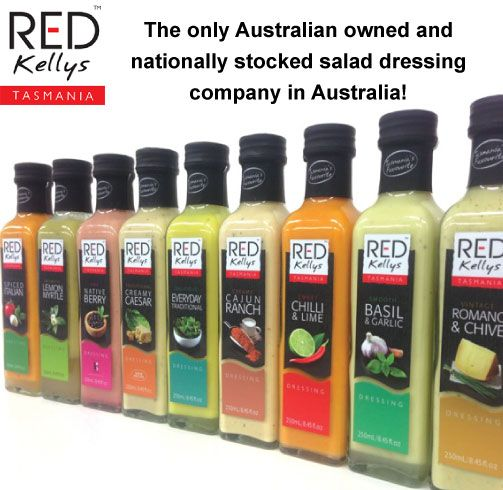 Dear Facebook fans, you're invited to 'SHARE' this post to show your support for the only Australian owned salad dressing company stocked nationally in the major supermarket chains. (Also available in selected independent retail outlets) Thanks for your fantastic support! -The Red Kellys Tasmania team