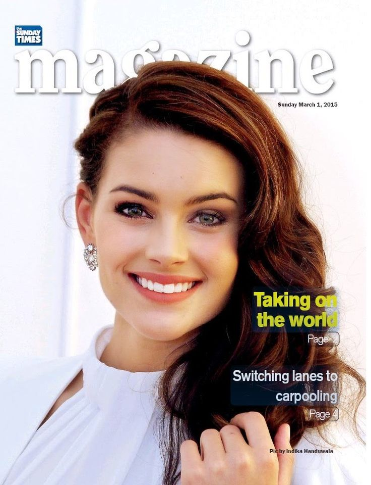 Rolene Strauss - Miss World 2014 - Sunday Magazine Sri Lanka
