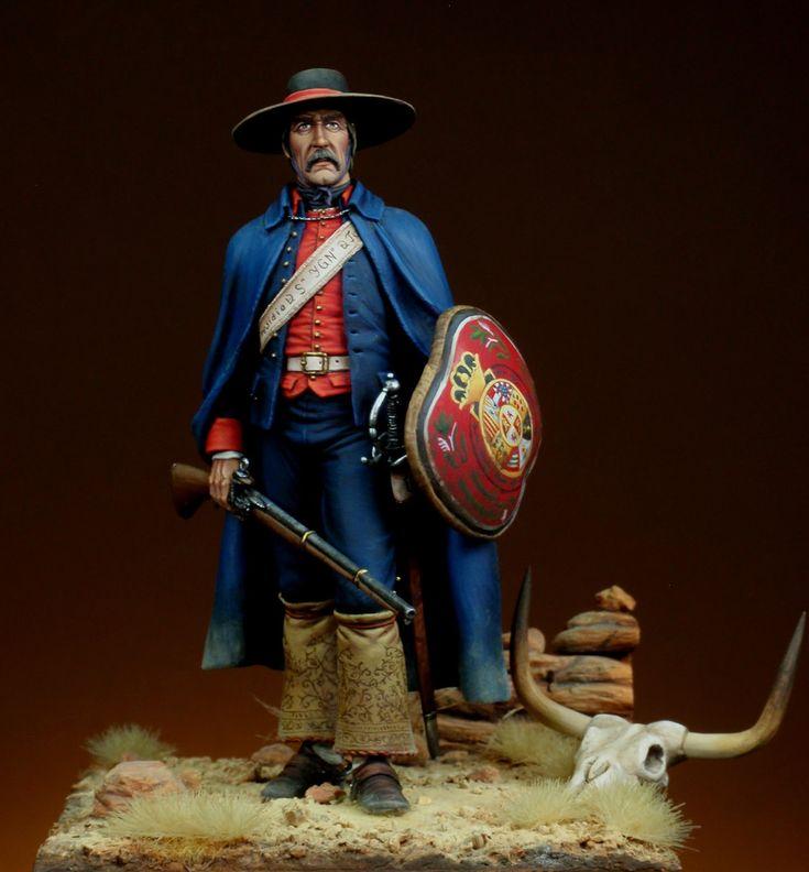 Miniatura de 90 cm de un Dragón de Cuera de 1790 (http://jesusgamarra.blogspot.com.es/)
