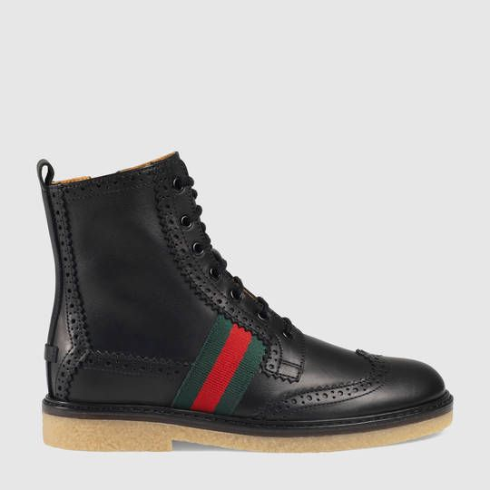 Gucci Children's leather brogue boot