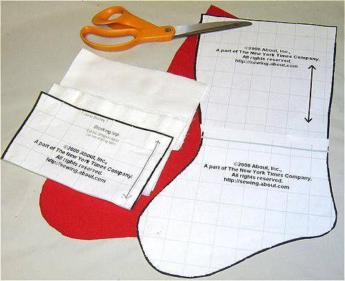image regarding Free Printable Christmas Stocking Pattern named Sew Fleece Xmas Stockings for Simple Vacation Decor